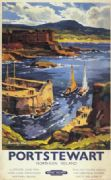 Portstewart, Co Derry, Northern Ireland. Vintage BR Irish Railway and Travel poster by Kenneth Steel